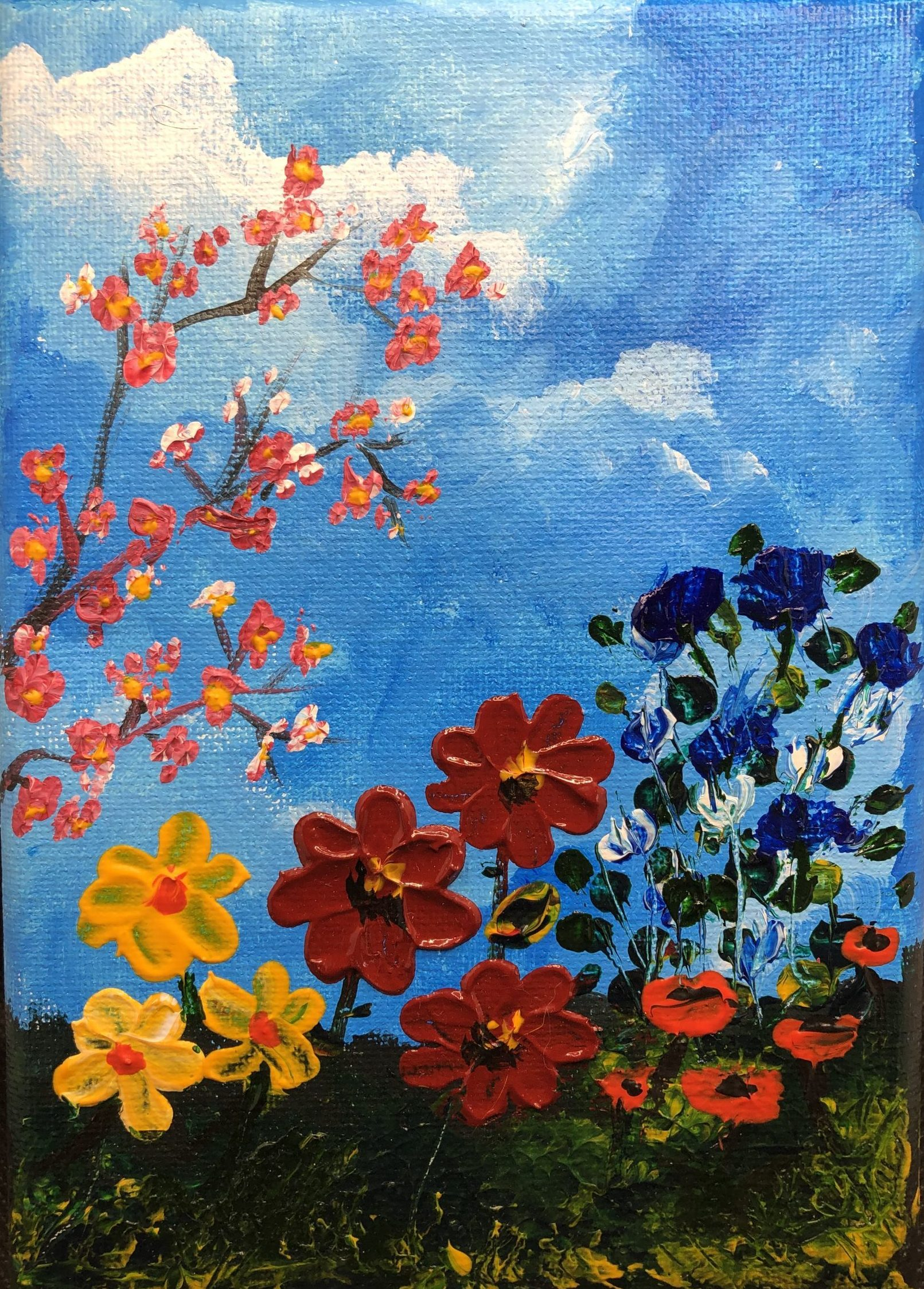 flower fine art and paintings blue