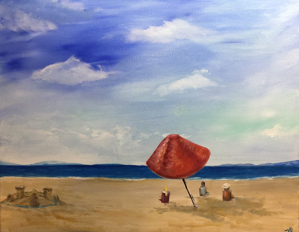 beach fine art impressionism